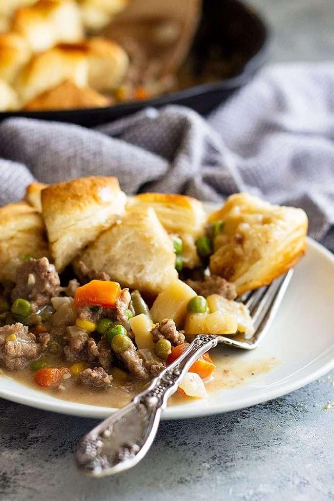 Easy Skillet Beef Pot Pie
