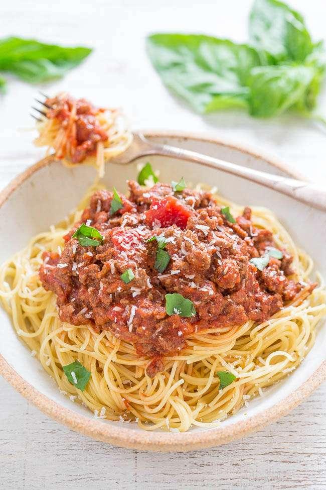 Easy 15 Minute Spaghetti